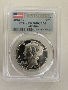 2018-W $25 Palladium Eagle PCGS PR70DCAM FS First Strike