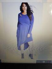 BNWT>>>>gorgeous citychic size XL purple wrapped up stretch dress or top