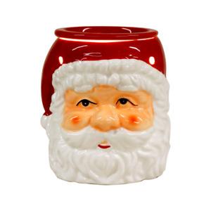 CERAMIC WAX MELT AROMA LAMP OIL BURNER FATHER CHRISTMAS SANTA DESIGN