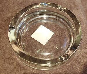 "Classic 5 3/4"" Round Clear Glass Ashtray by Anchor Hocking Made in the USA -NEW!"