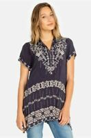 Johnny Was Fletcher Embroidered Tunic Top Boho Chic C26819 NEW