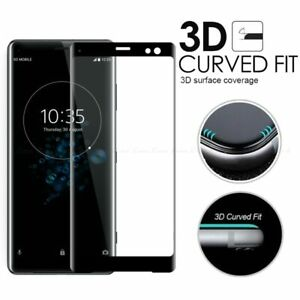 3D Curved Full Cover Tempered Glass Screen Protector For Sony Xperia XZ3 XZ4