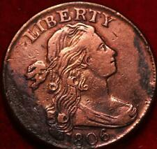 1806 Philadelphia Mint Copper Draped Bust Large Cent