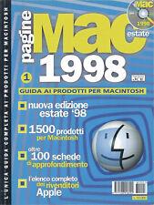 GUIDA ALLE APPLICAZIONI MACINTOSH APPLE ANNO 1998