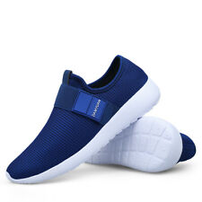 Men's Causal Slip On Running Shoes Breathable Athletic Tennis Jogging Sneakers