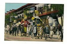 FUNERAL OF A CHINESE HIGH OFFICIAL. SHANGHAI. OLD  PRINTED . POSTCARD