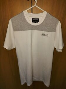 Barbour T-shirt Small Slim Fit White Hardly Worn