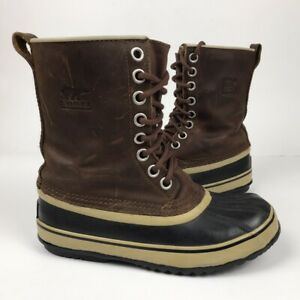 Sorel Women's Leather Boots Brown Winter Premium Size US 6.5 UK 5 EU 37.5 - 38