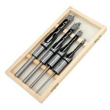 CT0646 4PC à mortaise bois foret square auger bit set tailles 6, 10, 13 & 16mm