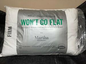 Martha Stewart Collection Wont Go Flat Foam Core Firm Standard Down Alternative