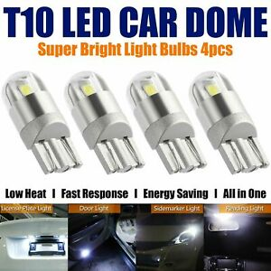 4X T10 Bulbs W5W 501 Canbus Lights LED COB SMD 3030 Bright White Car