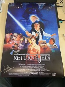 DAVID PROWSE Hand Signed 24 X 16 RETURN OF JEDI Movie Poster Autograph