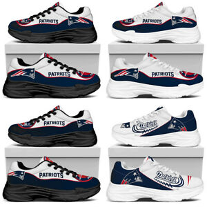 New England Patriots Running Sports Shoes Trainers Lightweight Jogging Sneakers