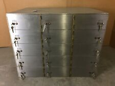 "Yale Safe Safety Deposit Bank Vault 1/2"" Thick Doors 15 Box Boxes 10"" x 21"" x 5"""