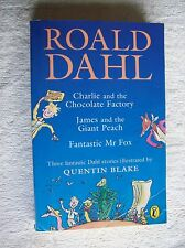 Roald Dahl 3in1 CHARLIE & CHOC FACTORY, JAMES & GIANT PEACH & FANTASTIC MR FOX