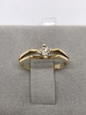 Engagement Ring. Size 5.5 18k Yellow Gold Diamond Solitaire