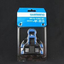SHIMANO SPD SL SM-SH12 Two Degree Road Bike Pedal Fixed Mode Cleat Set - Blue