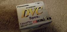 5 x PANASONIC MINI DV Cassette . Liner Plus  DVC AY-DVM60EF