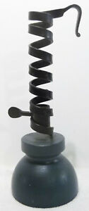 Vintage Tom Loose Hand Forged Courting Candlestick W/Wood Base Berks County Pa