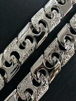 CUBIN CAST CURB CHAIN BRACELET 925 Sterling SILVER MEN'S NECKLACE BRAND NEW