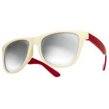 Occhiali da sole da donna quadrati e lenti in rosso a tecnologia lenti specchio