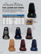 FREIGHTLINER KENWORTH BLACK&BLUE SEAT COVER W/POCKET PETERBILT MACK VOLVO 65312