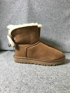 UGG Classic Double Bow Mini In Chestnut Uk Size 5