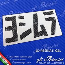 1 Adesivo Resinato Sticker 3D gel YOSHIMURA moto Carbon Look BLACK 100 x 53 mm