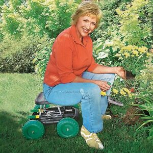 Heavy Duty Rolling Garden Seat with Tool Storage - Supports 250 Pounds