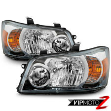 Fit 01-07 Toyota Highlander Chrome Headlights Housing Headlamps Replacement Pair