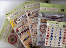 K & Co AMERICANA & MILITARY Themed~Grand Adhesions~Dimensional~VARIETIES!
