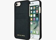 Michael Kors Leather Snap Cover Case w/Card Slots For iPhone 7 iPhone 8 - Black
