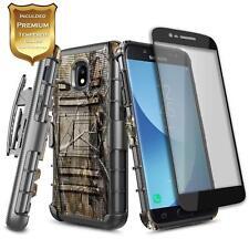 Samsung Galaxy J3 V 3rd Gen/J3 2018 Shockproof Belt Clip Holster Kickstand Case