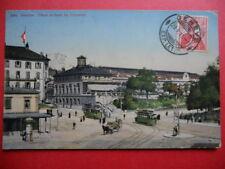 GENÈVE  :  La Place et la Gare de Cornavin.........VO.1911.