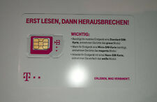 T-Mobile D1 Prepaid SIM Karte - Aktiv / Aktiviert / Registriert