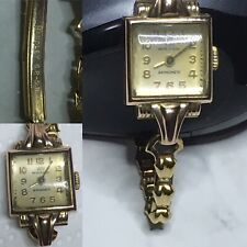 Antique Ladies Sold Gold Bracelet Watch - Swiss Britix Handley G.P.-5.B. (RARE)