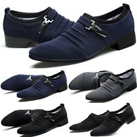 Mens Smart Formal Wedding Office Party Shoes Pointed Toe Oxfords Loafers Shoes