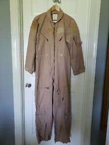 Flyers Coveralls Carter Flight Suit CWU-27/P Tan Desert Size 44R Regular USAF