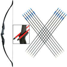 "20/30/40lb 57"" Archery Takedown Recurve Bow 12x Arrows Set Hunting Target RH/LH"