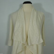 GUESS  Ladies Open Ivory Cardigan Sweater, Crochet Cascade Front size S