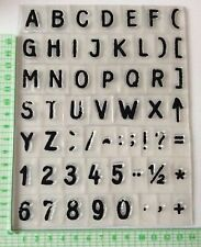 Alphabet Clear Stamps. 2 Sets With Characters. New.