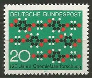 Germany West 1971 MNH Chemical Fibre Research Molecular Chain  Mi-664 SG-1573