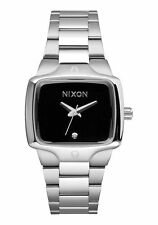**NEW** NIXON MENS THE SMALL PLAYER A300 000 SILVER BLACK CRYSAL WATCH RRP £160