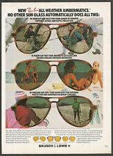 Ray-Ban AmberMatic Sun Glasses - 1978 Vintage Print Ad
