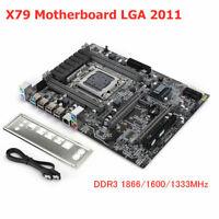 For Intel X79 Desktop Motherboard DDR3 LGA2011 USB 10-Core SATA3.0 PCI-Ex16 M.2