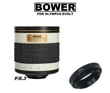 Bower 500mm f/6.3 (ATOD) T-mount Telephoto Mirror Lens for Olympus DSLR Cameras