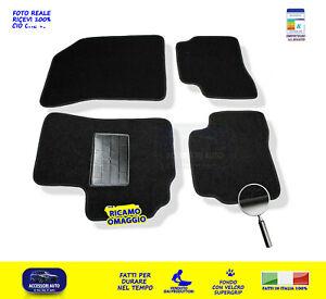2005-2010 - Antracite Ago Feltro 4tlg Tappetini auto Suzuki Swift 3 Hon clip