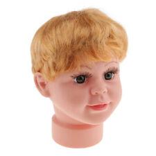 Kids Baby Boy Mannequin Manikin Head w/ Wigs Glasses Hat Display Stand Model