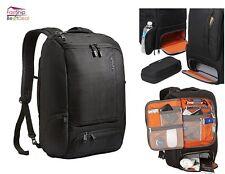 Professional Slim Computer Laptop Backpack Black Notebook Travel School Bag Case