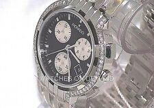New Men's Movado Esperanza BLK Dial Chrono 0605765 0.70ct Approx Diamond Watch *